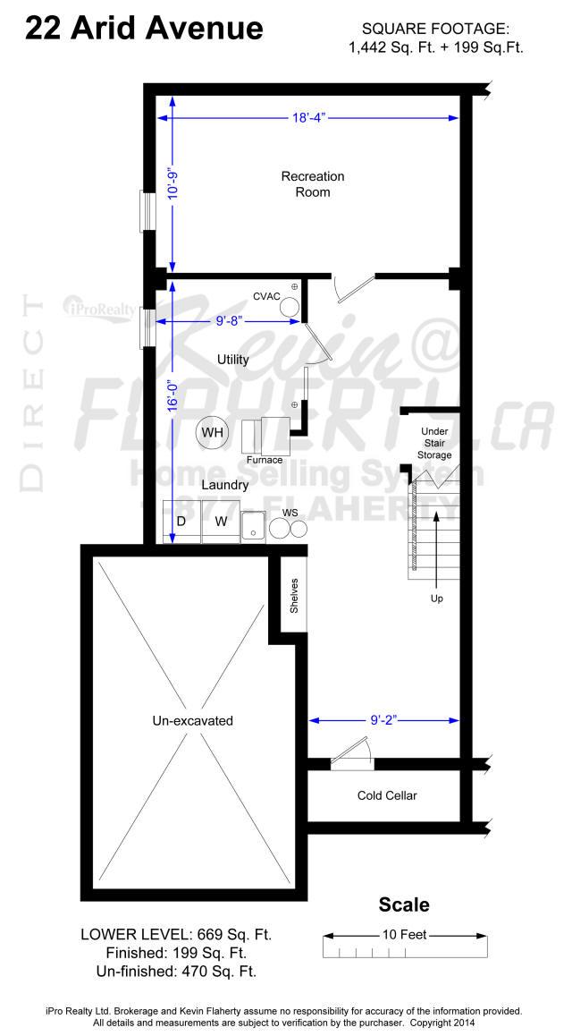 Lower Level 22 Arid Ave floor plans Brampt Real Estate MLS Listing