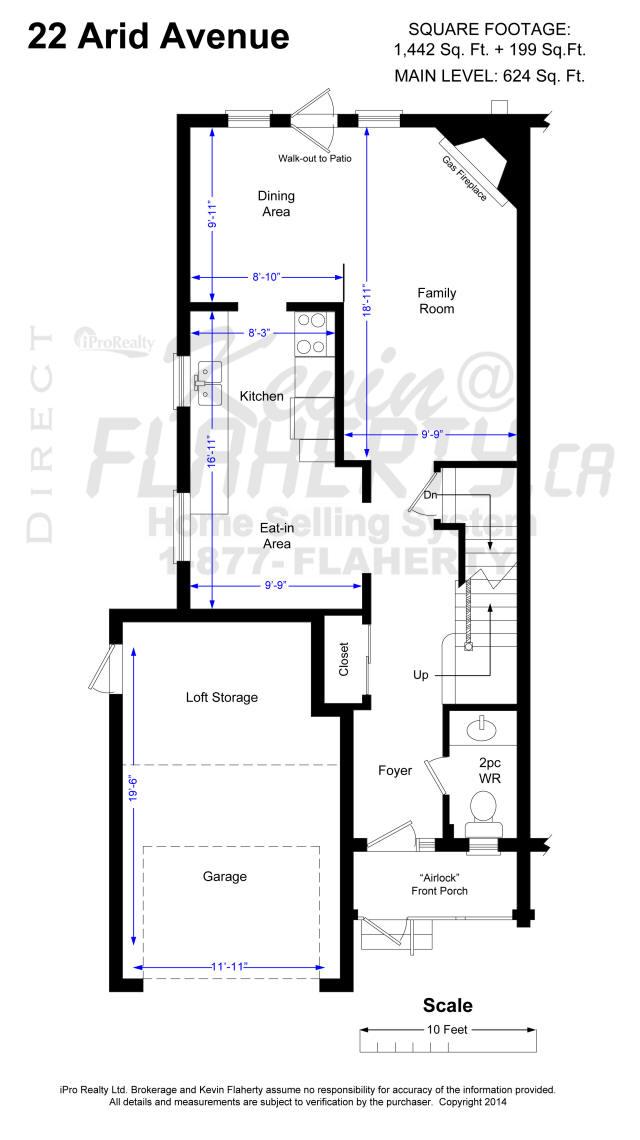 Main Floor, Floor Plans 22 Arid Ave Brampton Real Estate MLS Listing