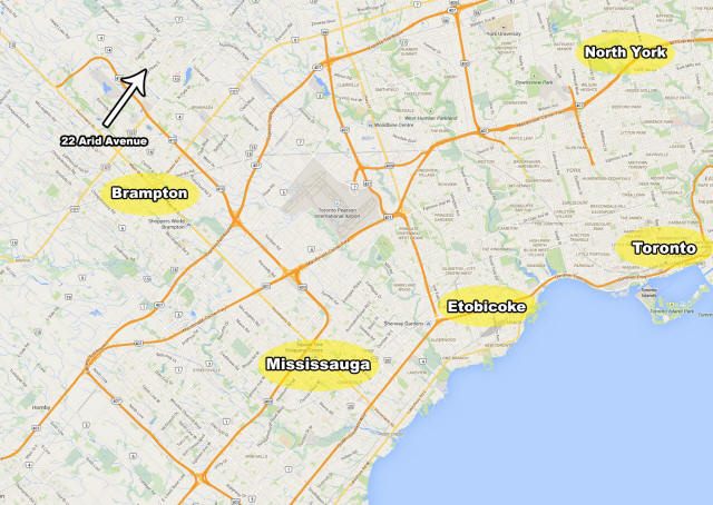 Map Far 22 Arid Ave Brampton Real Estate MLS Listing House for sale by Kevin Flaherty Home Selling System Team