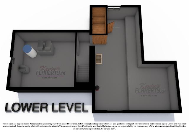 Lower Level 3D Floor Plans 33 Church St Real Estaet MLS Listing