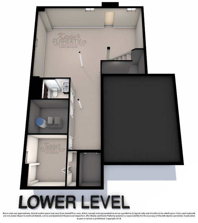 Lower Level 3D Floor Plans Of 59 Gallview lane Brampton
