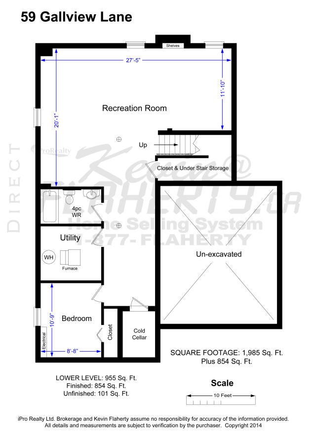 2D Floor Plans 59 Gallview Lane  Brampton Ontario Real Estate MLS Listing