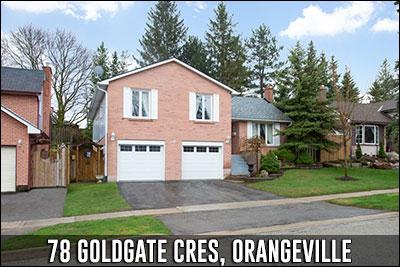 78 Goldgate Cres Orangeville Real Estate Listing