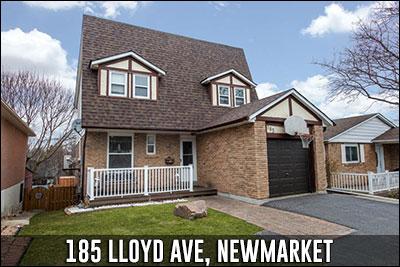 185 Lloyd Ave Newmarket Real Estate Listing