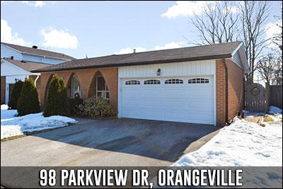 98 Parkview Dr Orangeville Real Estate Listing