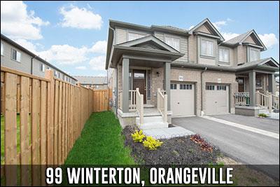 99 Winterton Crt Orangeville Real Estate Listing